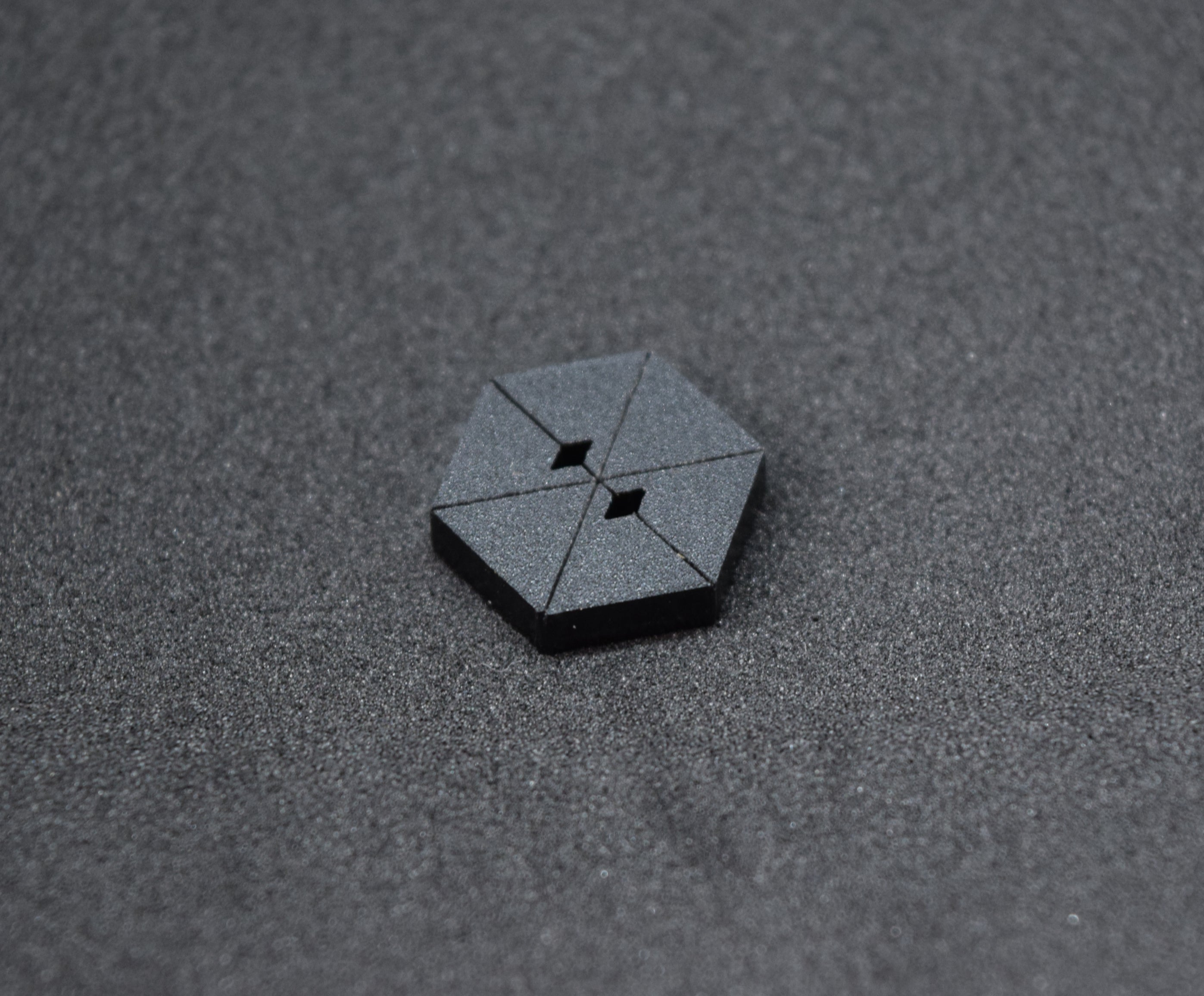 The Hex Button- Black