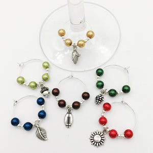 Autumn Wine Glass Charm Set