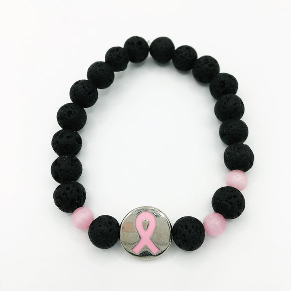 Breast Cancer Awareness Diffuser Bracelet