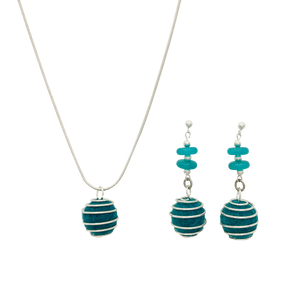 Caged Wool Diffuser Jewelry Set