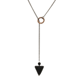 Triangle Lava Stone Lariat Diffuser Necklace