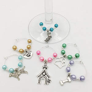 Dog Person Wine Glass Charm Set