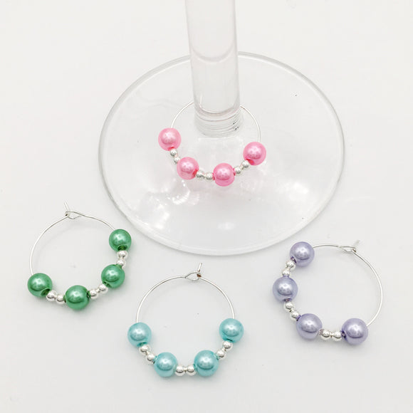 Elegant Wine Glass Charm Set
