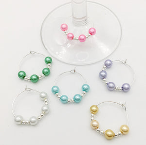Elegant 6-Piece Wine Glass Charm Set