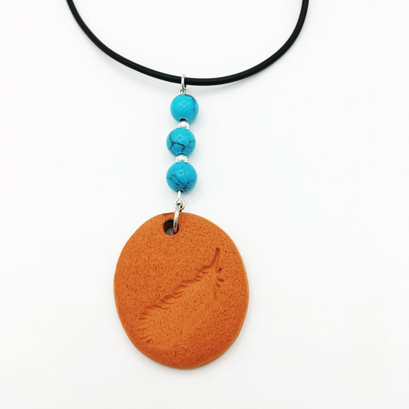 Terracotta & Leather Diffuser Necklace