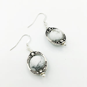 Galileo Howlite Earrings