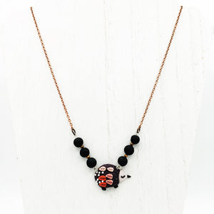 Hedgehog & Lava Stone Diffuser Necklace