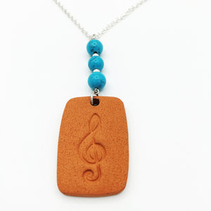 Terracotta Diffuser Necklace With Silver-Plated Chain