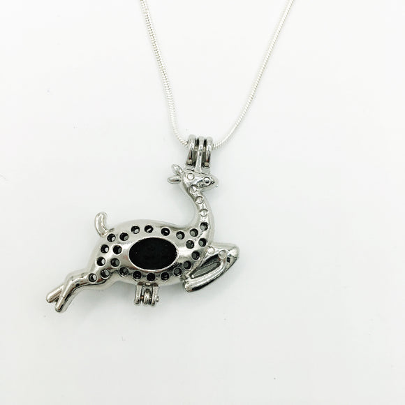 Reindeer & Lava Stone Diffuser Necklace
