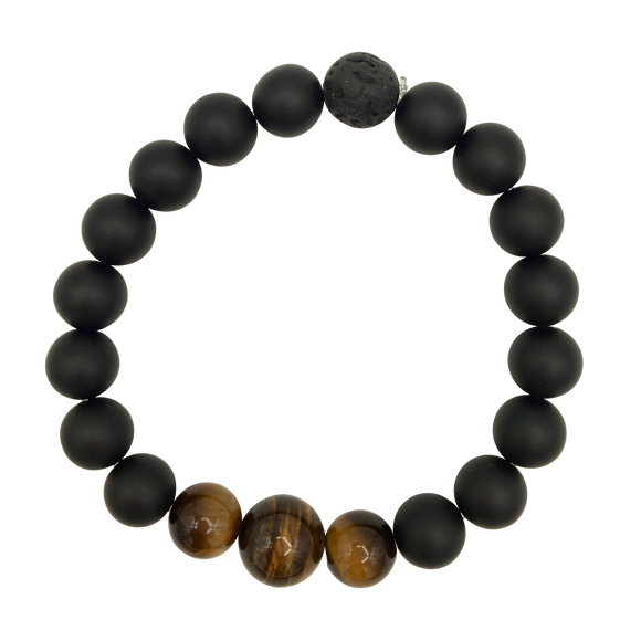 Men's Tiger's Eye & Onyx Diffuser Bracelet