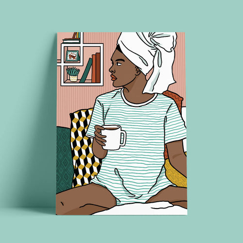 Lounging II Art Print
