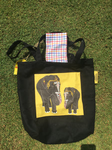 Temple Elephant Tote Bag