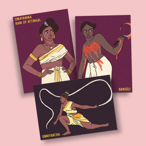 Women of Kerala: Set of 3 Posters