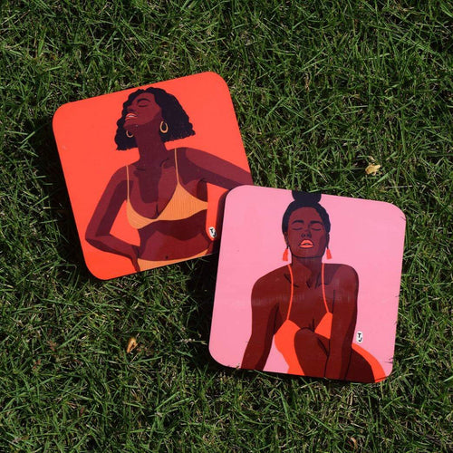 Sunkissed in Pink Coasters