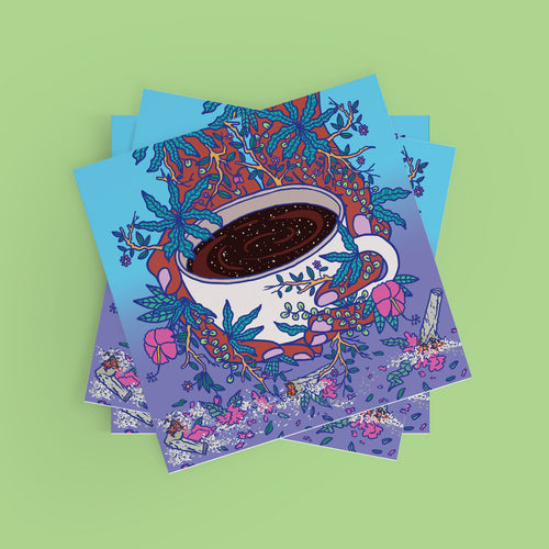Coffee & Flowers Poster
