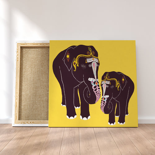 Temple Elephants Art Print