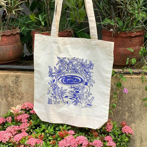 Coffee & Flowers Tote Bag