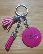 Load image into Gallery viewer, PRETTY TASSEL KEYRINGS WITH ROUND WOODEN DISC