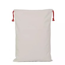Load image into Gallery viewer, QUALITY DRAWSTRING BLANK SANTA SACKS