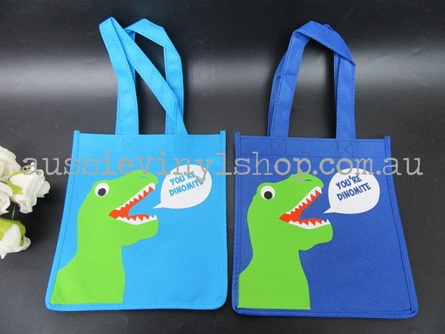 KIDS DINOSAUR NON-WOVEN SHOPPING/LIBRARY/TOTE BAG - Aussie Vinyl Shop