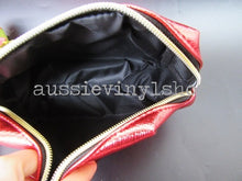 Load image into Gallery viewer, RED LEATHERETTE MAKEUP/COSMETIC BAG - Aussie Vinyl Shop