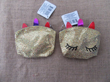 Load image into Gallery viewer, GLITTER LEATHERETTE MINI COIN, MAKEUP/PENCIL CASE