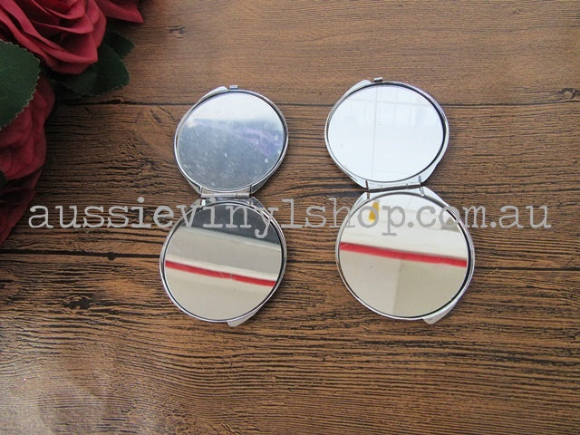 FOLDING METAL BEAUTY COMPACT MIRROR - Aussie Vinyl Shop