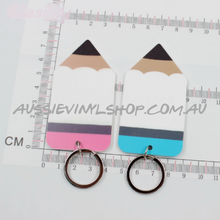 Load image into Gallery viewer, ACRYLIC PENCIL KEYRING (GREAT TEACHERS KEYRING) 4 STYLES - Aussie Vinyl Shop