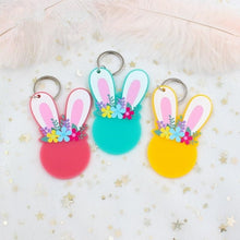 Load image into Gallery viewer, PRETTY ACRYLIC BUNNY/RABBIT KEYRINGS (2 SIZES) - Aussie Vinyl Shop