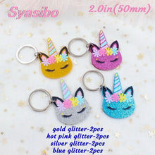 Load image into Gallery viewer, PRETTY ACRYLIC UNICORN KEYRINGS (2 SIZES) - Aussie Vinyl Shop