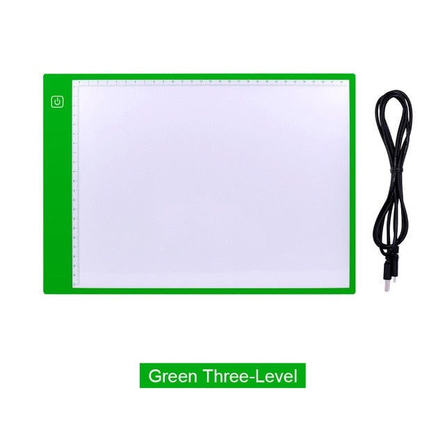 A4 SIZE ULTRA-THIN LED LIGHT PAD (COLOURED) - FOR WEEDING, DRAWING OR TRACING - Aussie Vinyl Shop