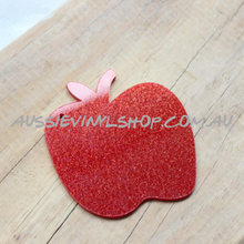 Load image into Gallery viewer, RED GLITTER APPLE ACRYLIC BLANK - GREAT TEACHER GIFT - Aussie Vinyl Shop