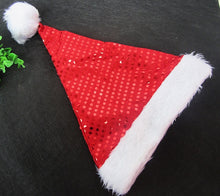 Load image into Gallery viewer, SPARKLY CHRISTMAS SANTA HAT