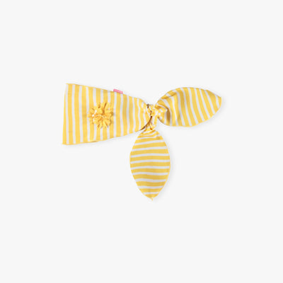 Bandeau noué jaune, enfant || Yellow Knotted Headband, Kid