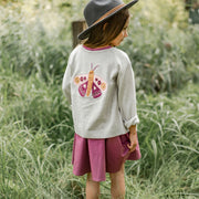 Veste en maille 2 façons, enfant fille  || 2 ways reversible knit vest, child girl