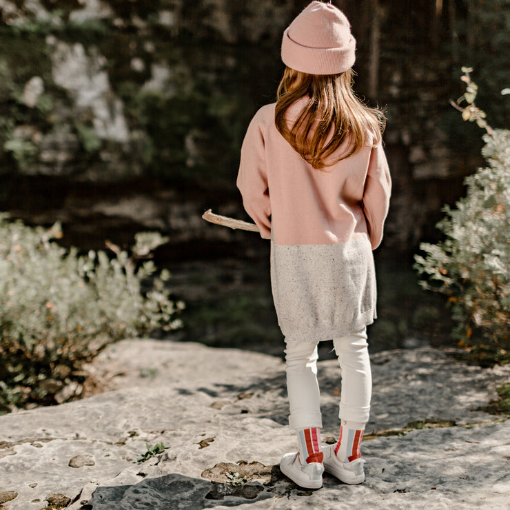 Robe en maille rose, enfant fille  || Pink Knit Dress, Girl