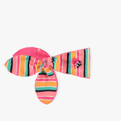 Bandeau noué rayé, enfant || Striped Knotted Headband, Kid