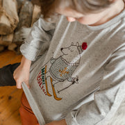 T-shirt gris à manches longues, garçon  || Gray Long-sleeve T-shirt, Boy