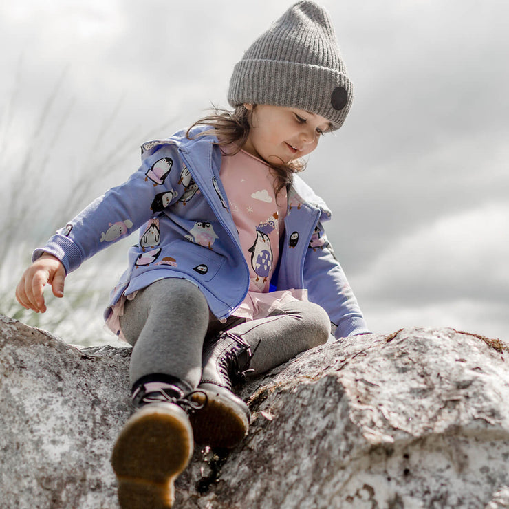 Veste mauve en coton français || French Terry Purple Vest