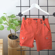 Short de denim orange || Orange Denim Shorts