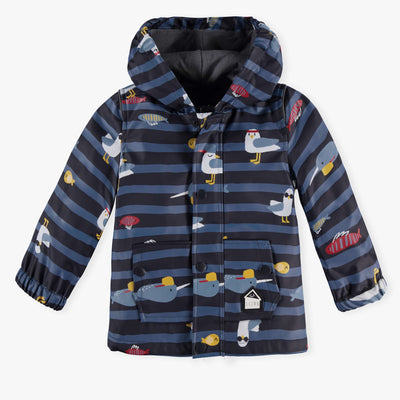 Imperméable marine à rayures || Striped Navy Raincoat
