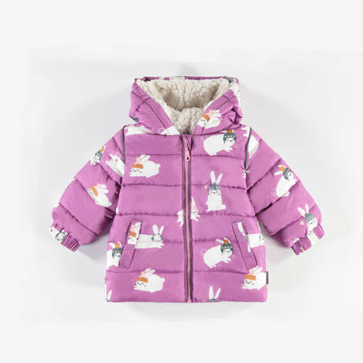 Manteau mauve à lapins || Purple Coat with Rabbits