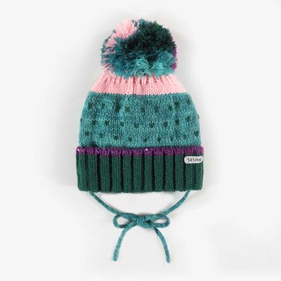 Tuque aqua, bébé fille || Aqua Toque, Baby Girl