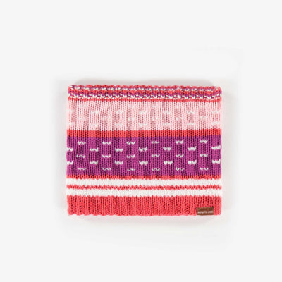 Cache-cou rayé, bébé fille || Striped Neck Warmer, Baby Girl