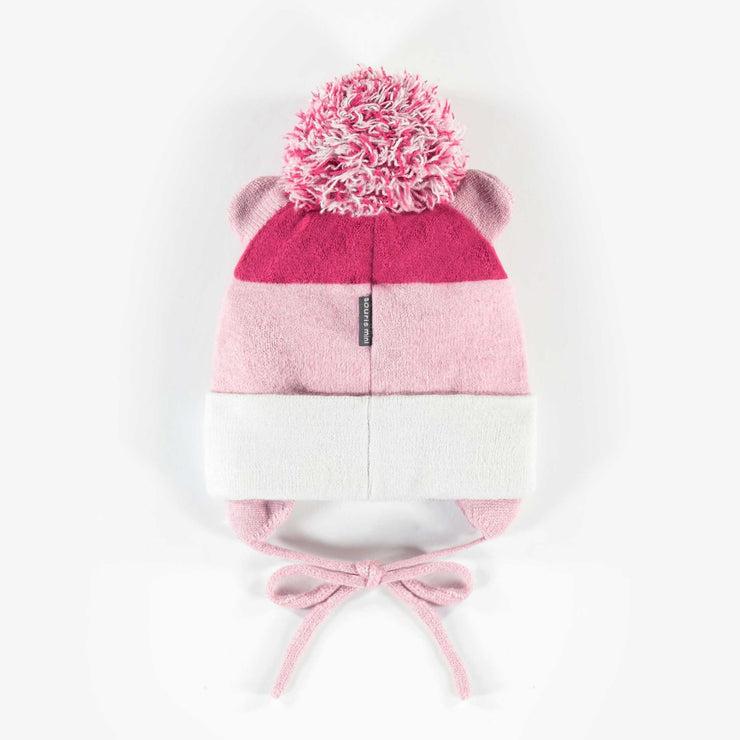 Tuque rose, bébé fille || Pink Toque, Baby Girl