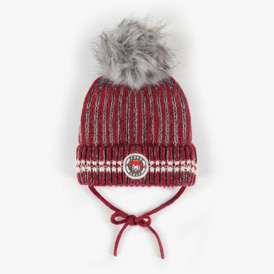 Tuque rouge et grise, bébé garçon || Red and Grey Toque, Baby Boy
