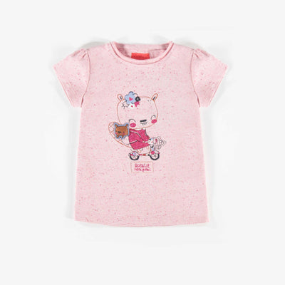T-shirt rose à manches courtes || Pink Short-sleeve T-shirt