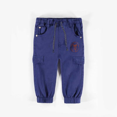 Pantalon bleu en twill extensible || Blue Stretch Twill Pants