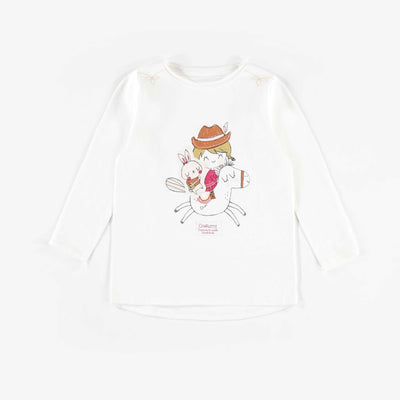 T-shirt à manches longues || White Long-sleeve T-shirt