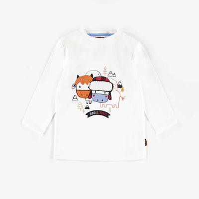 T-shirt blanc à manches longues || Long-sleeve White T-shirt